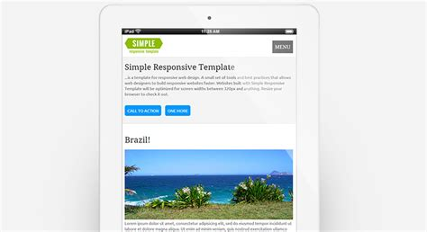 Simple Responsive Template Basic Responsive Html Template