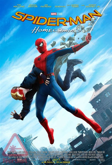 new spider homecoming poster is a homage to amazing