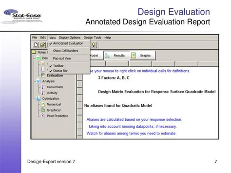 layout of feedback report ppt what s new in design expert version 7 general