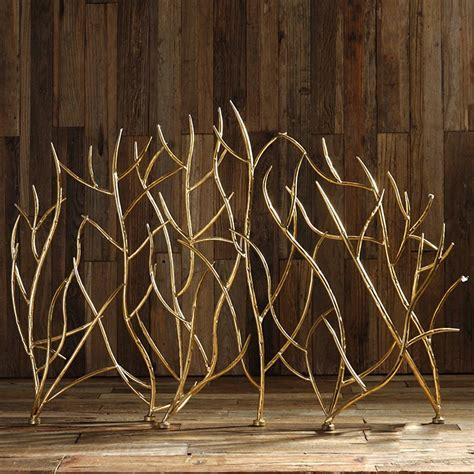 Uttermost Fireplace Screens by Uttermost 18796 Gold Branches Fireplace Screen