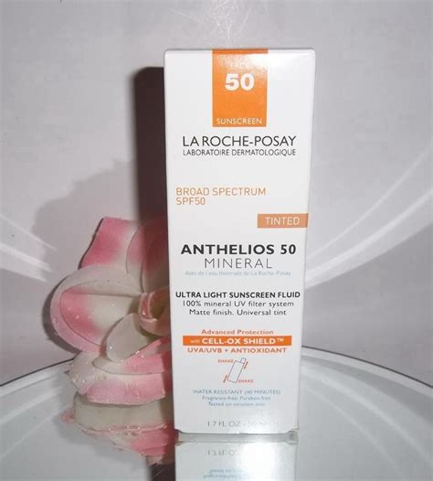 anthelios 50 mineral ultra light sunscreen fluid 1 7 fl oz la roche posay anthelios 50 spf ultra light mineral