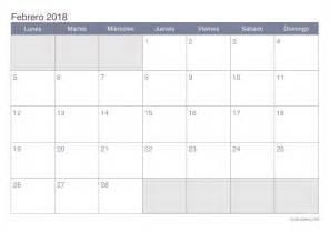 Calendario 2018 Febrero Calendario Febrero 2018 Para Imprimir Icalendario Net