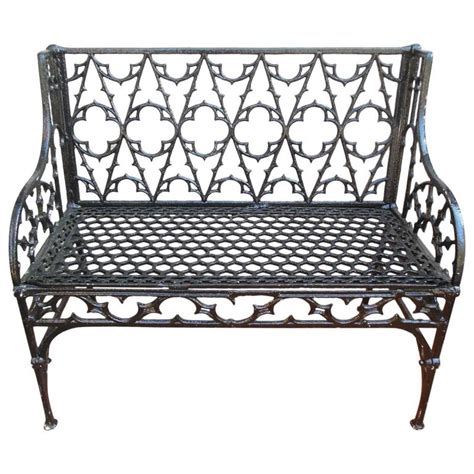 gothic bench bench gothic cast iron 19th century at 1stdibs