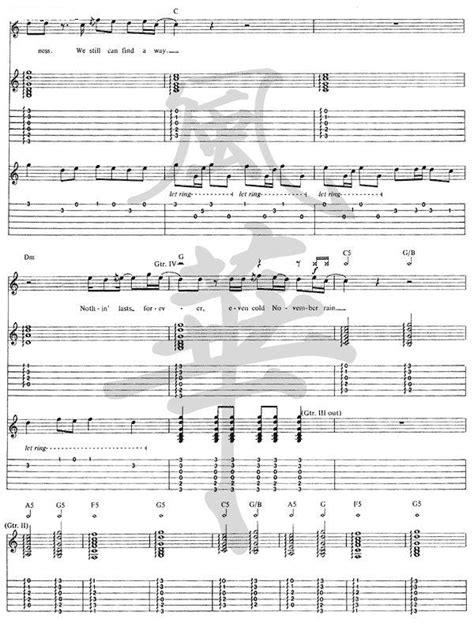 November Rain by Guns N Roses GnR(14) Guitar Tabs Chords