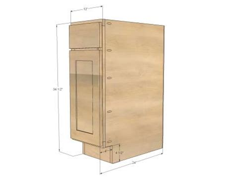 base kitchen cabinet sizes ana white build a 12 quot base cabinet door drawer combo