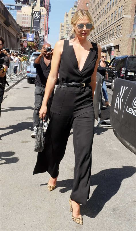 The Seen New York Fashion Week Day Four by Sharapova Was Seen Out In New York During New York