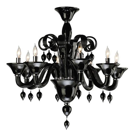 Black Murano Glass Chandelier Treviso Contemporary Black 8 Light Murano Glass Chandelier