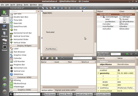 qt programming hello world qt creator how to create a windowed hello world program