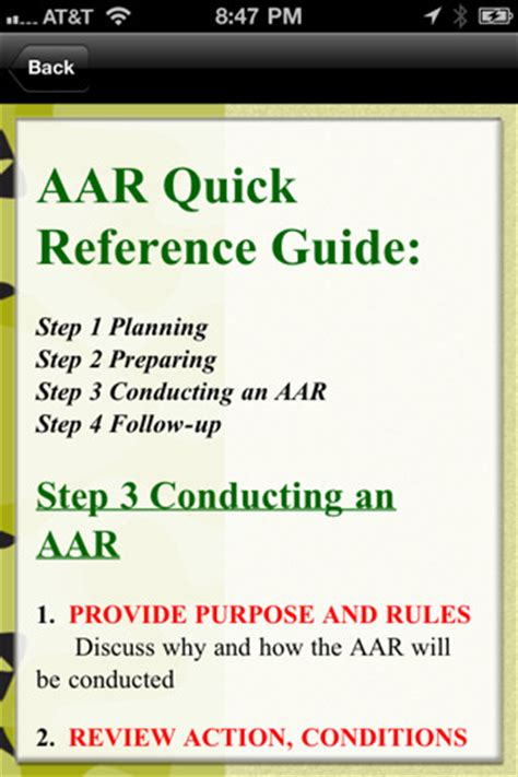 army after review template army after review pdf