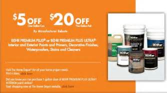 home depot rebate behr paint rebate myideasbedroom