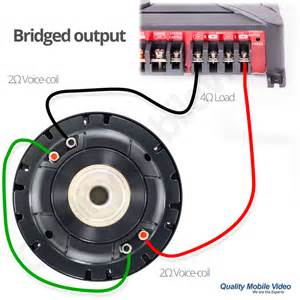 amp terminal wiring dual voice coil to one amp free engine image for user manual