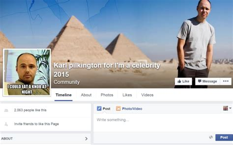 i m a celebrity facebook page karl pilkington to win i m a celebrity 2015 is becoming a