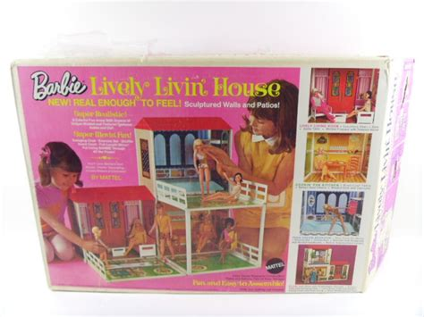 mattel barbie doll house vintage mattel barbie lively livin doll house in original box
