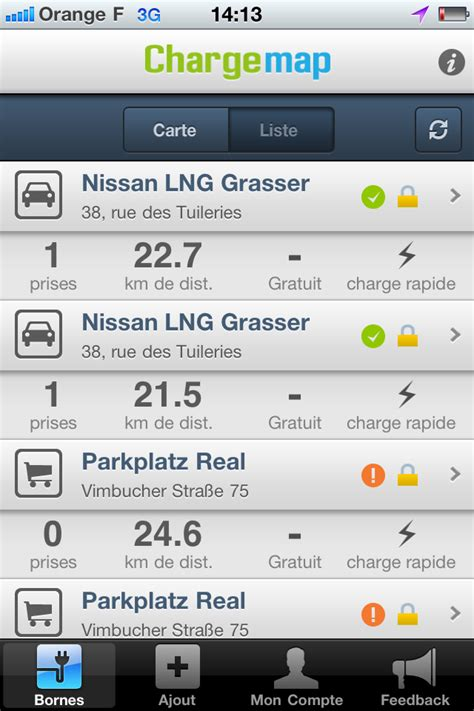 Test L Application by Test De L Application Iphone Chargemap Macattac Le