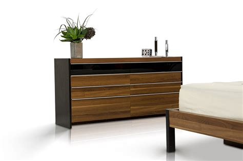 modern walnut bedroom furniture modrest rondo modern walnut bedroom set
