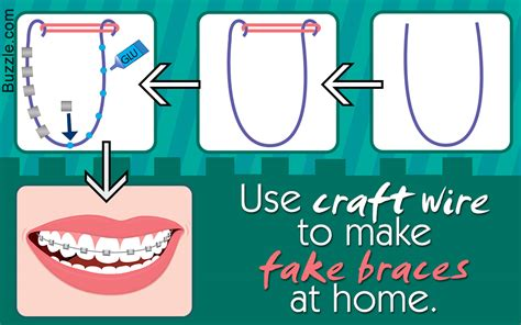 How To Make Vire Teeth Out Of Paper - diy guide on how to make braces that look real