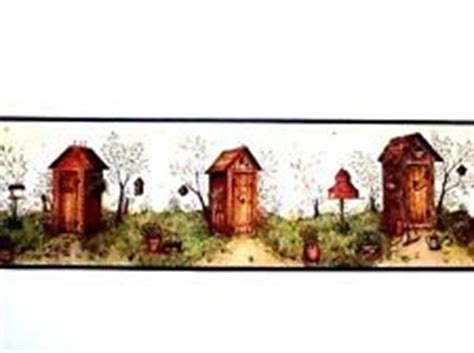 country wallpaper borders for bedrooms 1000 ideas about outhouse bathroom on pinterest