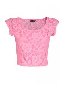 Pnk hibiscus lace crop top select fashion