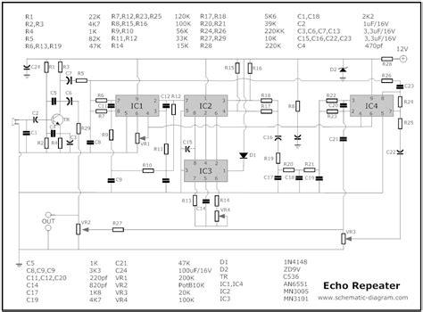 Digital Echo Repeater Tone Dhb 413 Karaoke echo chamber circuit schematic