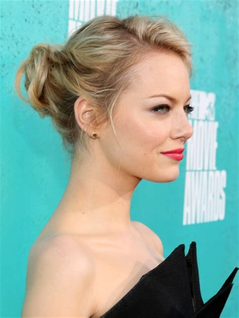 Emma Stone Updo | emma stone updo hairstyles for medium hair popular haircuts