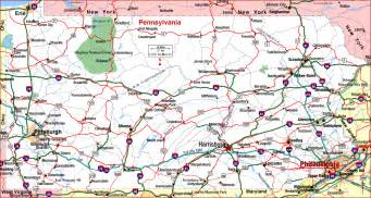 road map of pennsylvania pennsylvania aaccessmaps