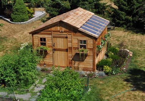outdoor living  sunshed garden shed