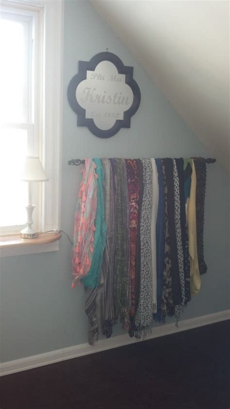 Scarf Racks For Closets by 25 Best Ideas About Scarf Rack On Hang Scarves Scarf Storage And Scarf Organization