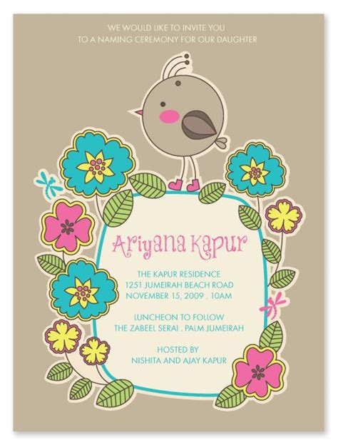 naming ceremony invitation matter in the world s catalogue of ideas