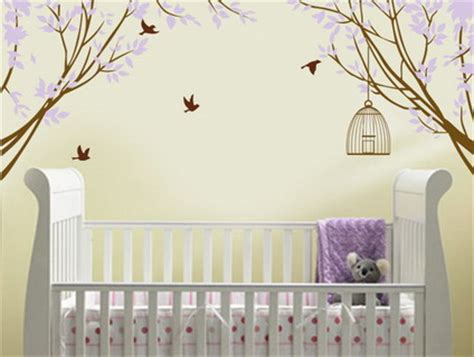 Nursery Decorations Wall Stickers Inspiring For Decoration Purple Wall Decal For Nursery