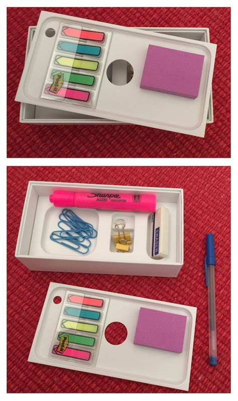 How To Make A Desk Organizer How To Create A Desk Organizer From An Iphone Box And Bonus Receipt Organizer