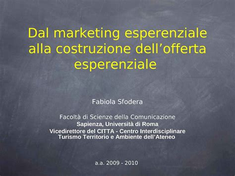 dispensa marketing marketing esperienziale e offerta dispense