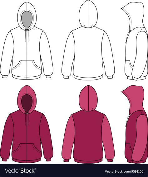 Hoodie Sweater Template Royalty Free Vector Image Sweater Design Template