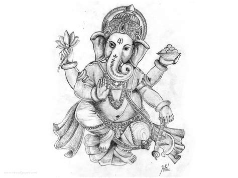 Sketches 1080p by Lord Vinayaka Pencil Sketch Wallpaper Hd Wallpapers