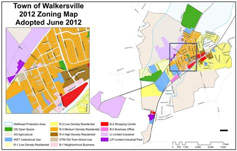 zoning map zoning map town of walkersville