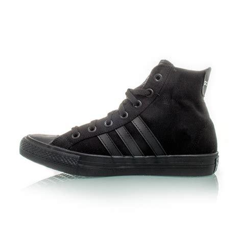 adidas neo 3 stripes mid unisex casual shoes black sportitude