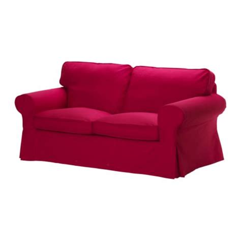 red ikea couch ektorp two seat sofa idemo red ikea