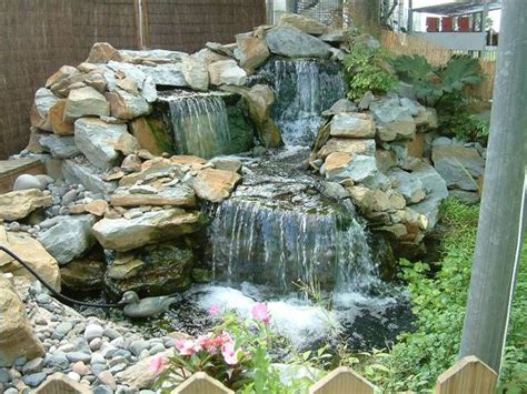 Garden Rock Features 22 Beautiful Waterfalls For Backyard And Front Yard Ladscaping