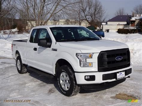 ford truck white 2015 ford f150 xl supercab 4x4 in oxford white a27373