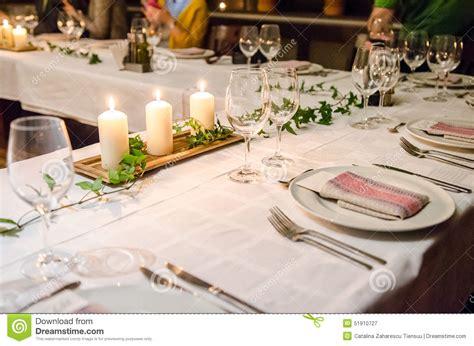 dinner table setup dinner table setup stock image image of seasonal candles