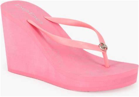 Sandal Jepit Semi Wedges Kate Spade Pink Lemonade Silver Str T1310 5 bebe logo flip flop wedge in pink pink lemonade lyst