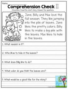 Comprehension Worksheets With Questions by 25 Best Ideas About Comprehension On Reading