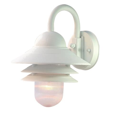 Outdoor Lighting White Shop Acclaim Lighting Mariner 13 In H Textured White Outdoor Wall Light At Lowes
