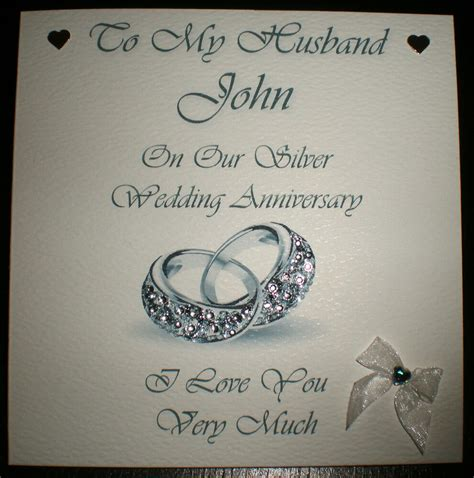 silver wedding anniversary personalised card husband or ebay