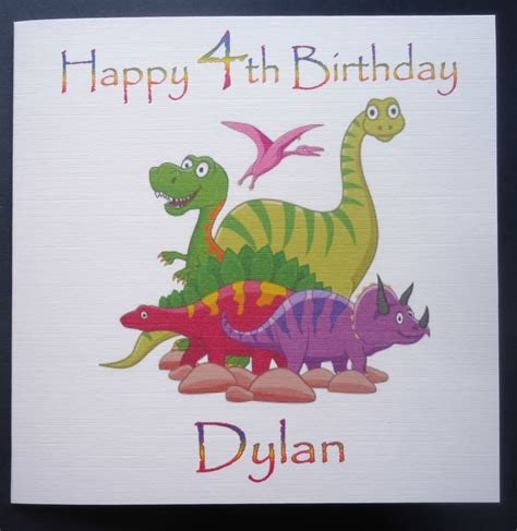 printable birthday cards dinosaur free personalised dinosaur birthday card any age 1st 2nd 3rd