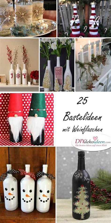 Weihnachtsdeko Fenster Diy by Top 30 Diy Weihnachtsdeko Bastelideen Mit Weinflaschen
