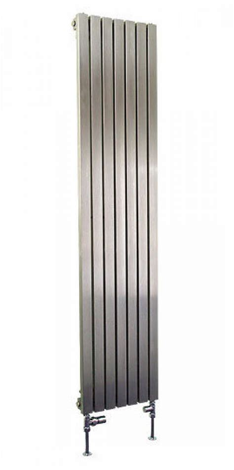 stainless steel radiators elevato vertical brushed apollo ferrara brushed stainless steel vertical radiator