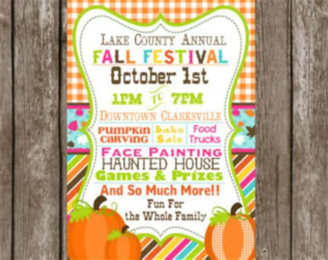 Fall Festival Invite Etsy Fall Festival Invitation Templates