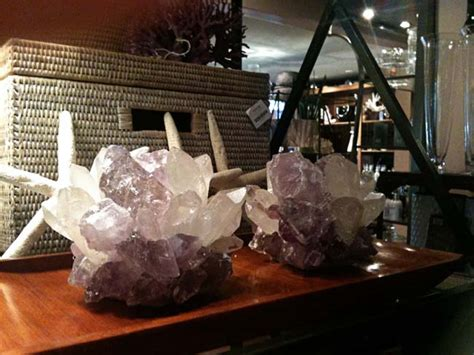 crystal decor for home guartz geode crystal in home decor hvh interiors