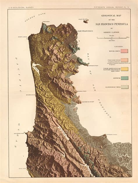 san francisco geology map antique map chart geological map of the san francisco