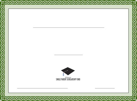 rt template generic scholarship certificate template free